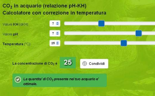 Calcolatore automatico di CO2 di Acquariofilia Facile