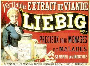 Antica pubblicità dell'estratto di carne Liebig