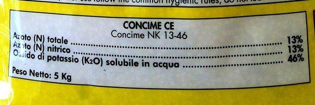 nitrato di potassio 13-46