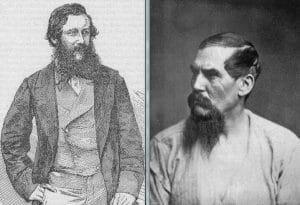 John Henning Speke (a sinistra) e Richard Francis Burton (a destra)