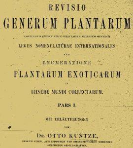 Revisio Generum Plantarum