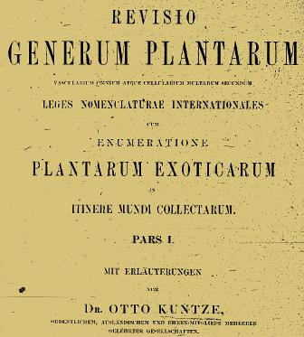 Revisio Generum Plantarum
