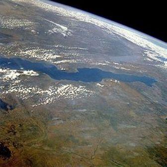 Lago Tanganica Vista satellitare