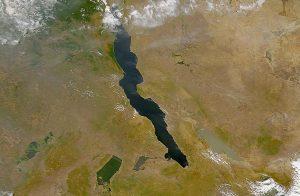 Lago Tanganica - Immagine satellitare della NASA (fonte Wikipedia)