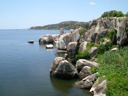 Vista del lago Tanganica