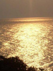 Tramonto sul lago Tanganica