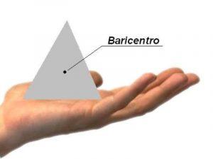 Mano con piramide appoggiata sulla base, in posizione stabile