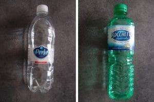 Bottiglie di acqua naturale