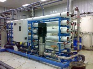 Impianto di produzione ad osmosi inversa