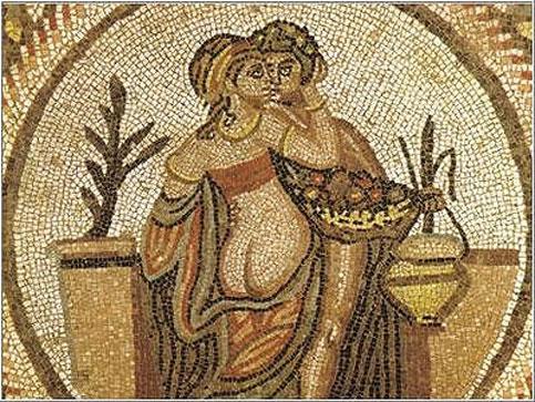 Mosaico di Villa romana del Casale, nei pressi di Enna