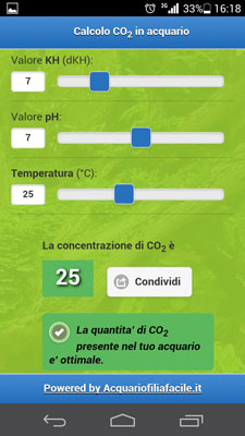 co2 calcolatore mobile