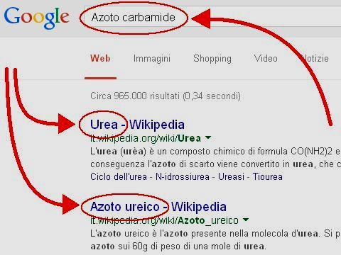 Risultati della ricerca su Google per azoto carbamide
