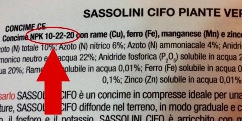 Composizione sassolini NPK CIFO