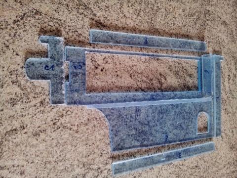 Plexiglas pezzi