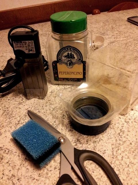 Materiali per filtro interno