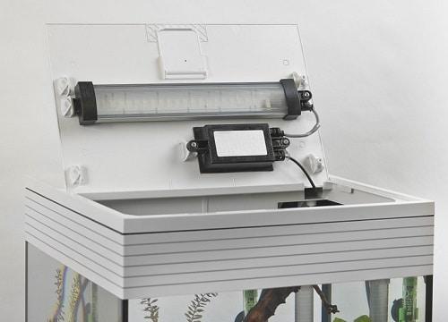 Illuminazione LED sotto il coperchio dell'Askoll pure L