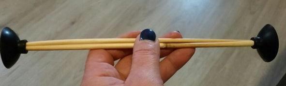 Bamboo con due ventose alle estremità
