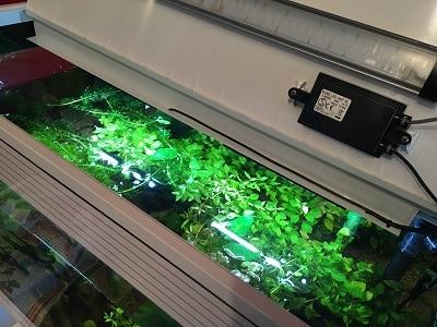 Luce aggiuntiva con LED COB fissata sulla struttura portante del coperchio