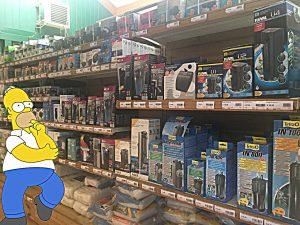 Homer Simpson che sceglie il filtro