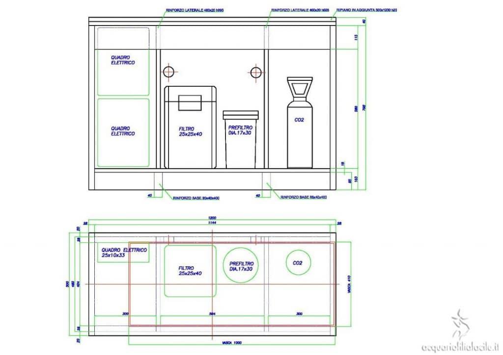 CAD Modifica mobile acquario