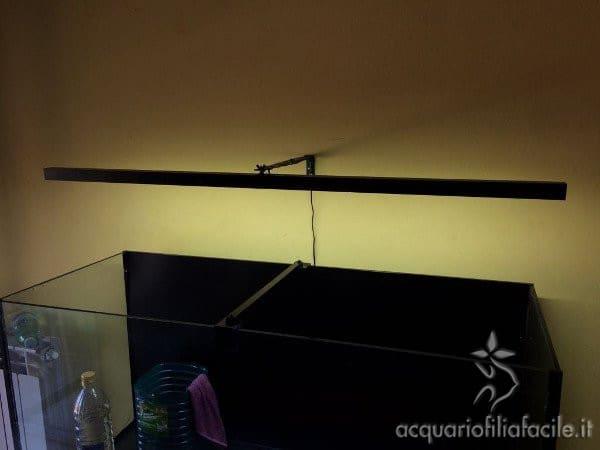 Plafoniera LED vista angolare