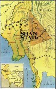 Shan State, in Burma, on the border with China, Laos and Thailand