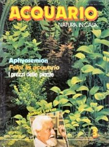 Copertina della rivista «Acquario» degli anni '80, una delle più lette in acquariofilia