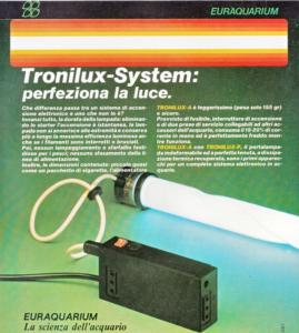 Impianto d'illuminazione per acquariofilia Tronilux