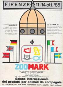 Locandina del Salone internazionale «Zoomark» di Firenze, anno 1985