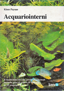 Copertina del libro «Acquariointerni» di Klaus Paysan, una delle riviste di acquariofilia più famose