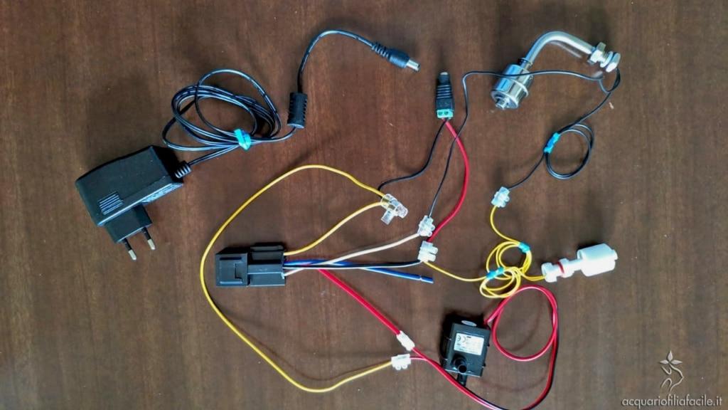 Circuito realizzato per la protezione dei sensori di livello per il rabbocco automatico