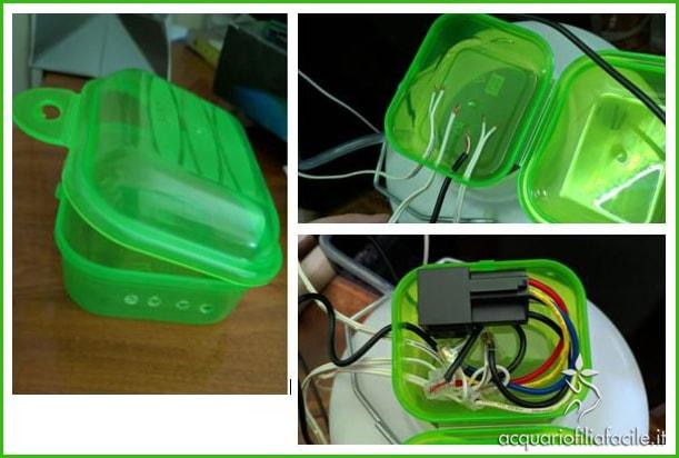 Scatolina adattata per contenere il circuito