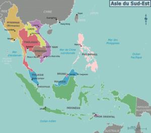 Mappa del Borneo, habitat dei Parosphromenus